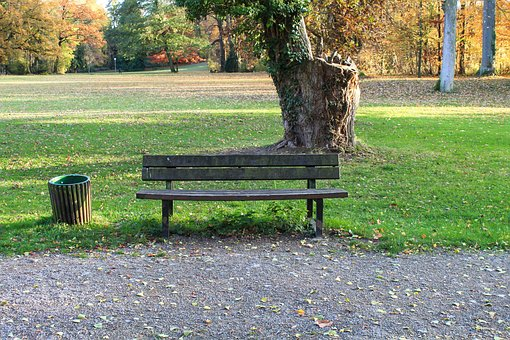 Park Bench, Bank, Break, Landscape, Autumn, Seat, Rest