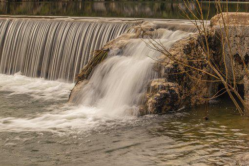 Water Fall, River, White Water, Landscape