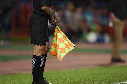 Referee, Soccer, Football, Assistant, Flag, Match