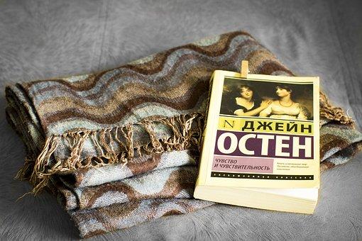 Book, Scarf, Autumn, Mood, Plaid, Novel