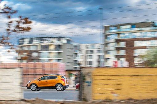 Speed, Car, Urban, Motion Blur, Slow Shutter, Pan