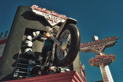 Motorcycle, Oversized, Advertising, Las Vegas, Nevada