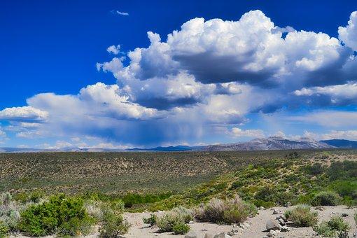 Death Valley, Desert, Dry, Rain, Nature, Landscape
