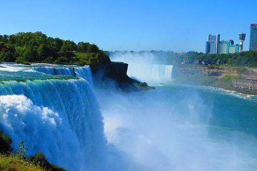Niagara, Falls, Waterfall, Water, Amazing, Edge