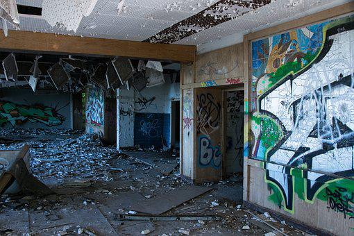 Abandoned, Destroyed, Ruin, Building, Decay, Pforphoto