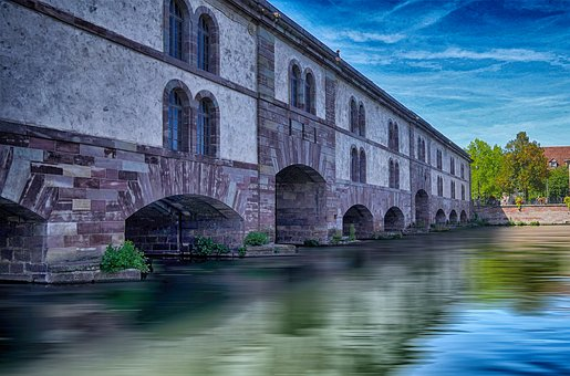 Hdr, Bridges, Old, Water, Picturesque, Alsace, Stone
