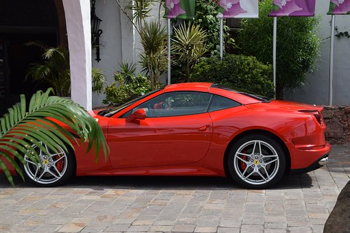 Ferrari, Red, Wheels, Ps, Racing Car, Auto, Vehicle
