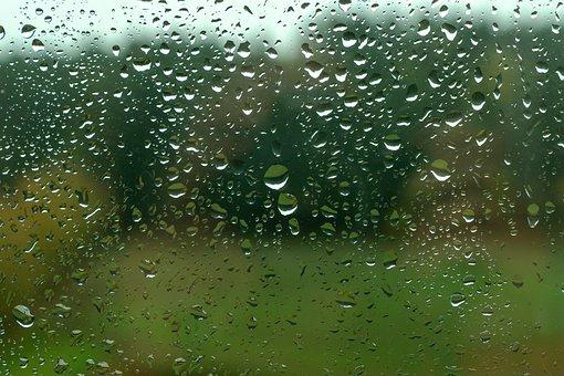 Rain, Window Glass, Raindrop, Wet, Drip, Water, Weather