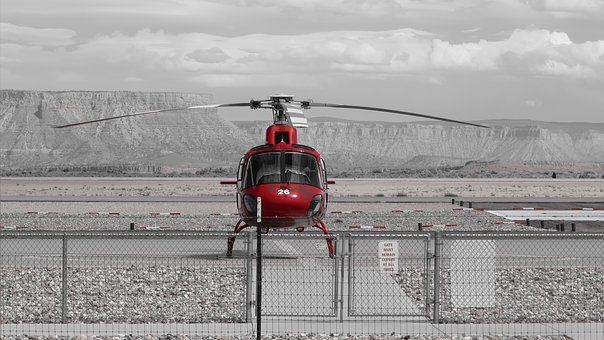 Helicopter, Aviation, Flight, Red, Chopper, Flying, Fly