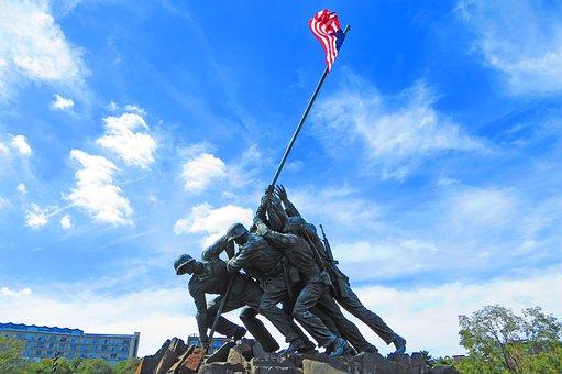 Marine, Corps, War, Memorial, Washington, Remembrance