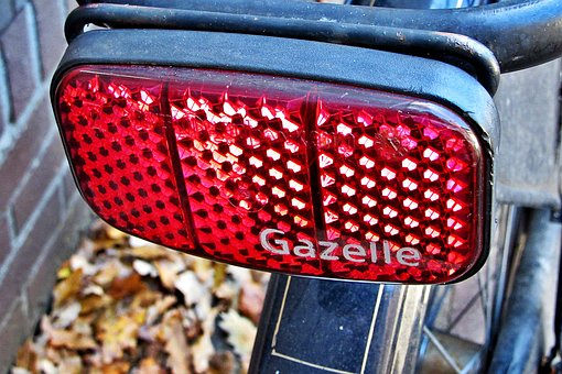 Bicycle, Reflector, Reflectors, Safety, Lighting, Red