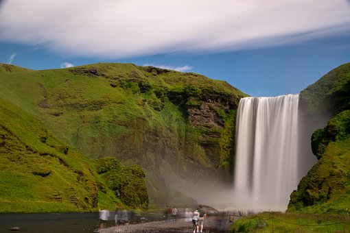 Waterfall, Iceland, Skogafoss, Nature, Landscape, Water