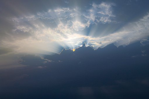 Sunrise, Morning, Clouds, Sun Beam, A New Day