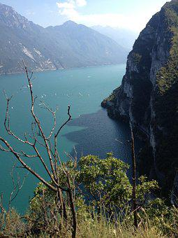 Landscape, Taly, Garda, Waters, View
