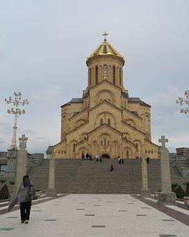 Georgia, Tbilisi, Holy Trinity Cathedral, Sameba