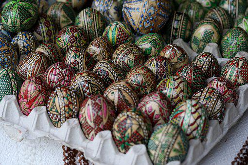 Eggs, Pasta, Decorated, Traditional, Coloring, Painted