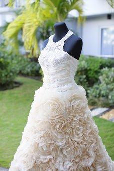 Wedding Dress, Dress, Lady's Dress