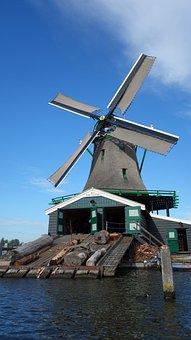 Sawmill, Zaanse Schans, Mill, Wind Mill, World Heritage
