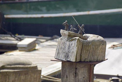 Empty, Carving, Sculpture, Wood, Artwork, Fish