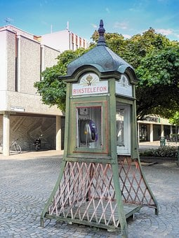 Phone Booth, Sweden, Phone, Old, Antique, Communication
