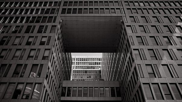 Building, Black And White, Geometry, Line, Window