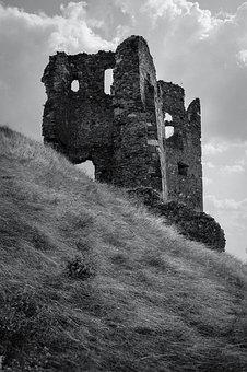 Ruins, Castle, Blue, Sky, Architecture, Building, Old