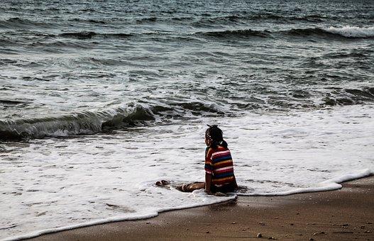 Asia, Sea, Thailand, Koh Ianta, Water, Beach, Child