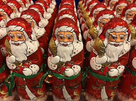 Santa Clauses, Chocolate, Chocolate Santa Claus