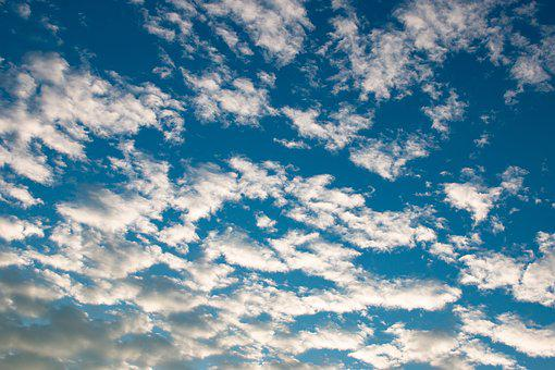 Clouds, White, Fluffy, Sky, Blue, Weather, Summer