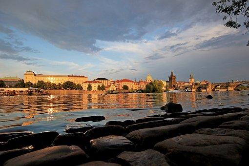 Czech Republic, Praha, Architecture, Mood, River