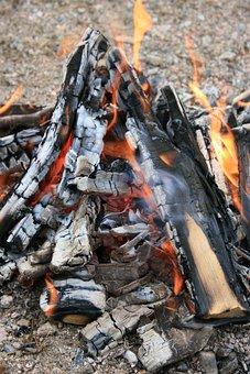 Fire, Campfire, Camping, Flames, Embers, Firebrand, Hot