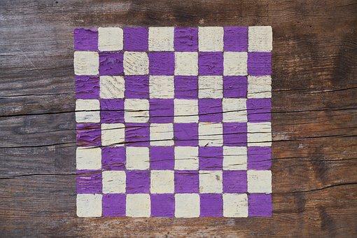Chess, Square, Purple, White, Game, Texture, Squares
