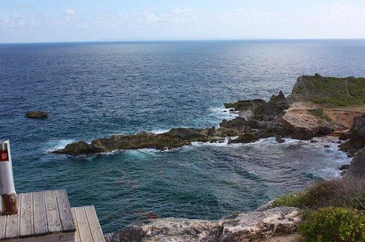 Guadeloupe, Grande-terre, Saint-françois, Rock, Current