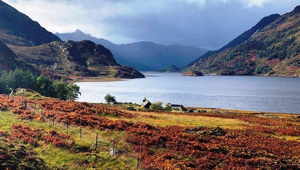 Scotland, Loch, Hourn, Highlands, Landscape