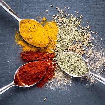 Spices, Turmeric, Oregano, Paprika, Food, Ingredient