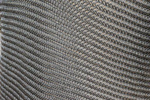 The Hauberk, Chainmail, Iron Rings, Iron, Mesh, Metal