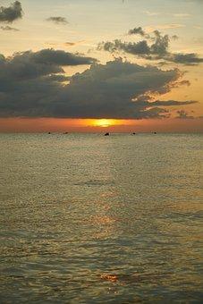 Marine, Landscape, Water, Solar, Wave, Beach, Sunset
