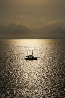 Landscape, Ship, Vehicle, Sailboat, Go, Romantic