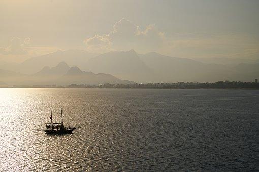 Ship, Boat, Marine, Water, Blue, Sail, Sailboat