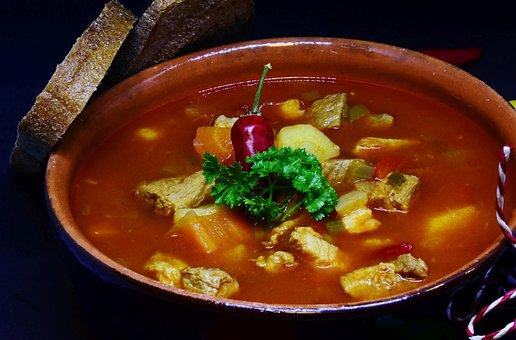 Goulash, Soup, Meat, Vegetables, Potatoes, Food, Cook