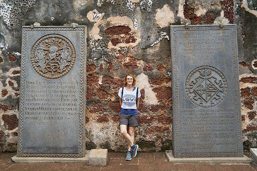 Tourist, On, Temple, Monument, Malaysia, Travel, Date