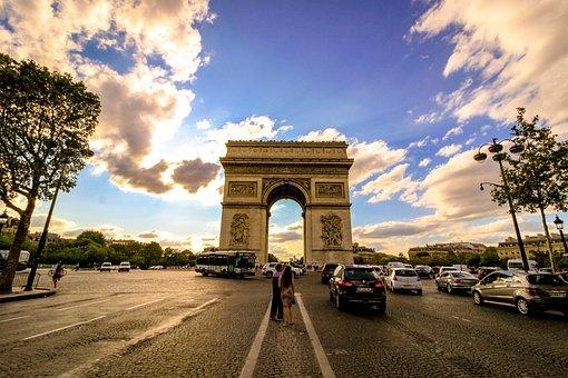 Arc, Triumph, Tourism, Travel, Paris, France, Monument