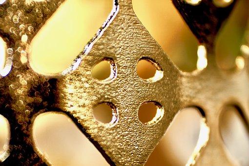 Metal, Shape, Gold, Shine, Light, Pattern, Stamp, Print