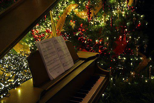 Piano, Music, Holdays, Seasonal, December, Celebration