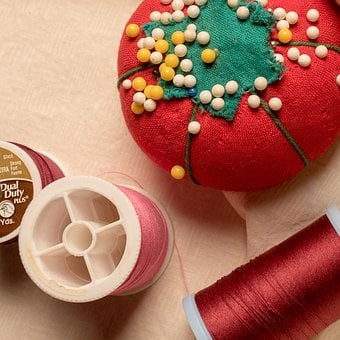 Sewing, Needle, Thread, Pin, Pin Cushion