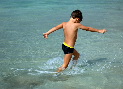 Human, Child, Boy, Childhood, Luck, Happy, Play, Water