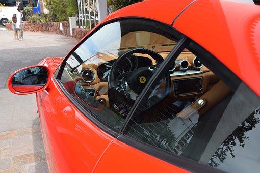 Ferrari, Red, Wheels, Ps, Racing Car, Auto, Vehicle