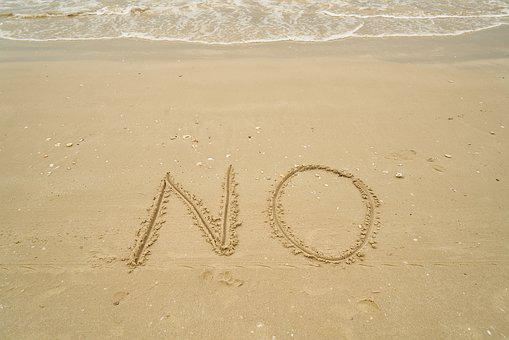 No, Beach, Sand, Article, To Write, Read, Msn Letters
