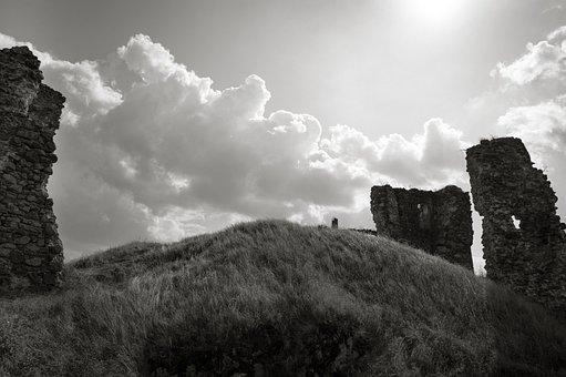 Cloud, Ruins, Landscape, Building, Castle, Wall