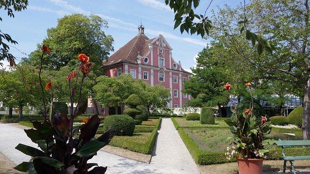 Castle Park, Salem, Fountain, Park, Atmospheric